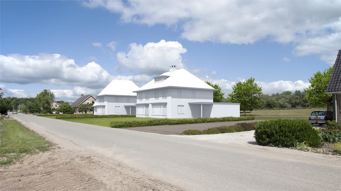 Een impressie van wat er met woningbouw mogelijk is aan de Liesveldsesteeg bij Brakel.