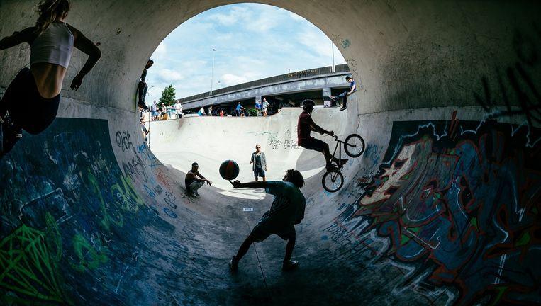 The Freestyle Games van BNN: alleen populair bij een vrij kleine groep urban sportliefhebbers. Beeld  Jan Bijl