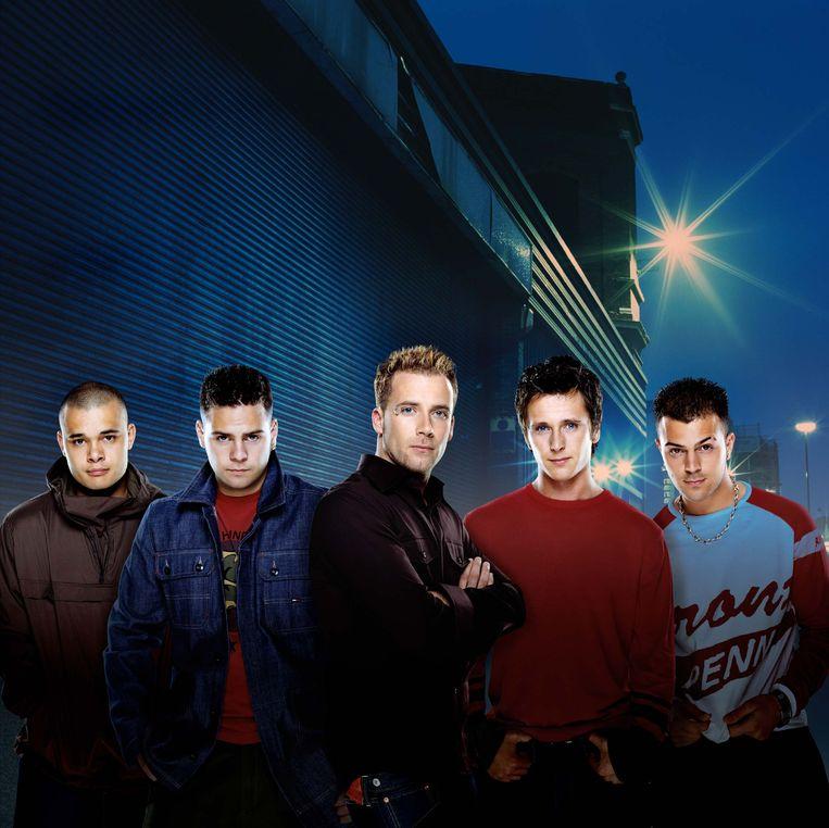 5ive in de begindagen: Sean, Scott, J, Ritchie, Abz