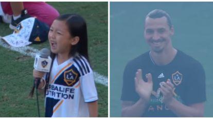 Zélfs bij Zlatan valt de mond open wanneer 7-jarig meisje harten verovert met prachtige stem