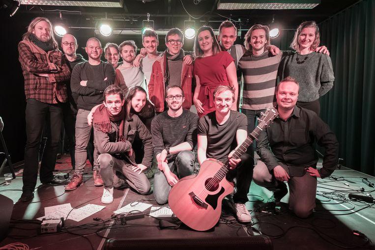 De muzikanten van het Warmste Concert.