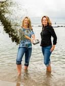Jennifer Breaton (links) en Rebecca Wiering.