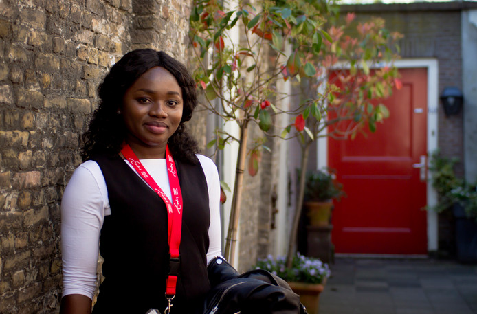 Studente Emmanuella Kwamee uit Ghana