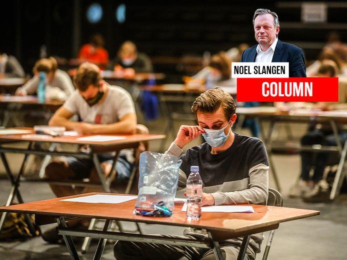 Vlaamse studenten leggen hun examens af in coronatijden.