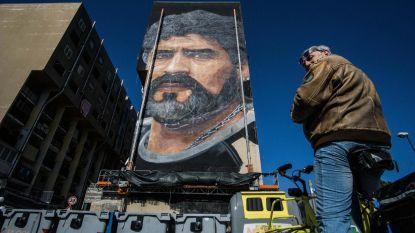 Napels eert Diego Maradona met gigantisch muurfresco en ereburgerschap