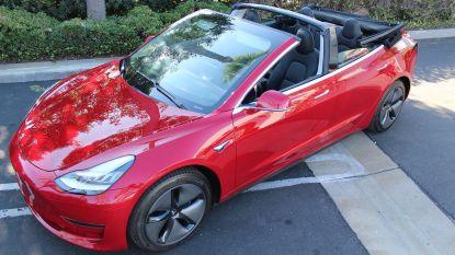Tesla Model 3 Cabriolet is klaar voor de zomer (maar niet dankzij topman Elon Musk)