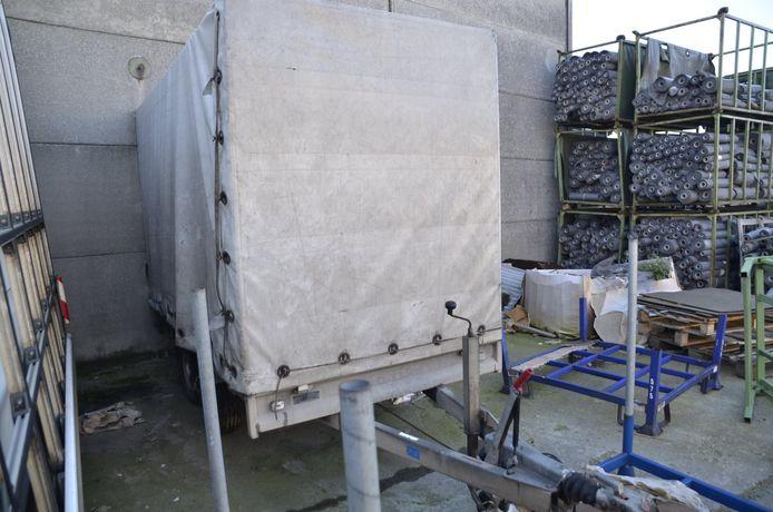 De aanhangwagen van Hans Soenen is in Beveren-Leie (Waregem) gestolen.