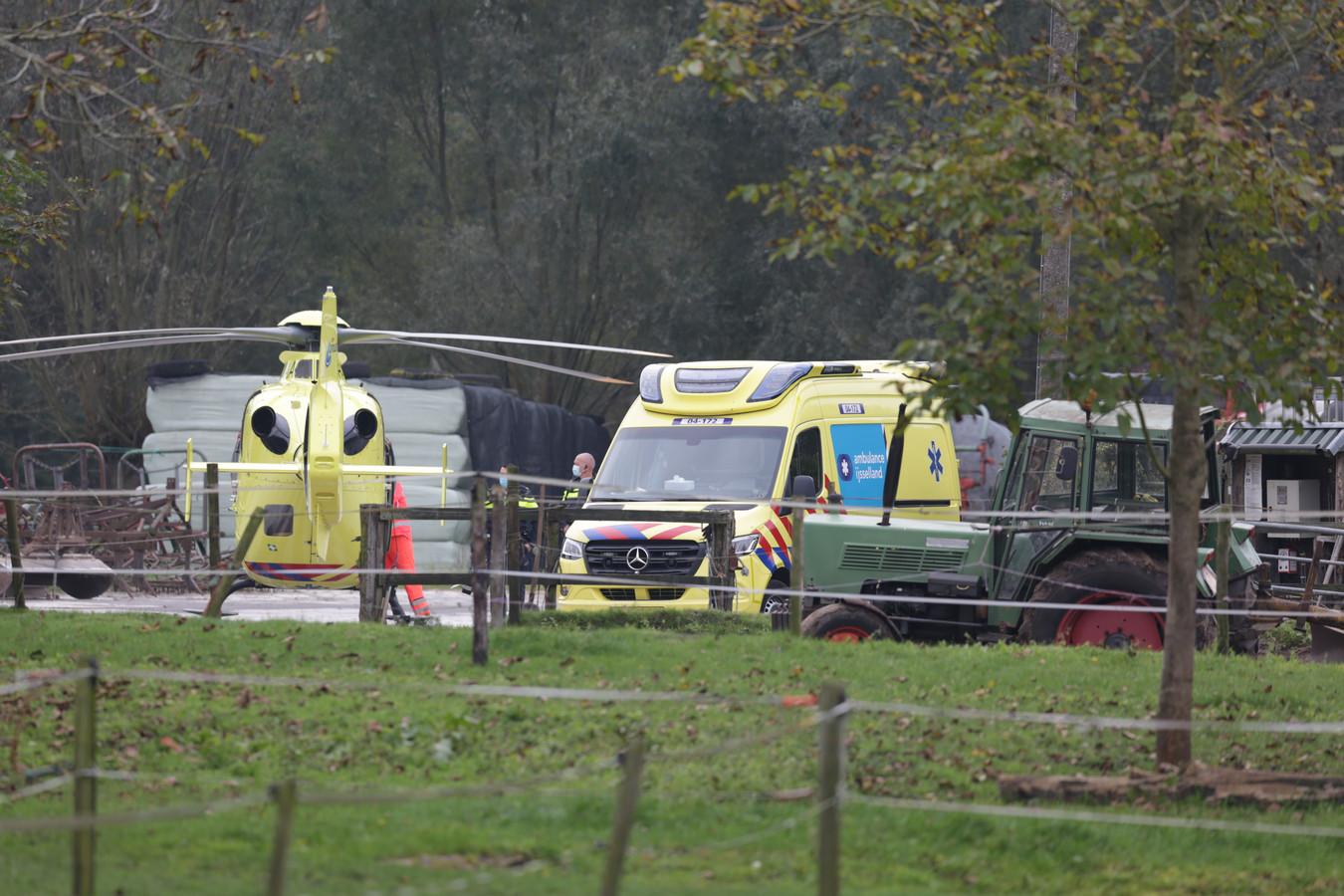 Ook een traumahelikopter werd opgeroepen.
