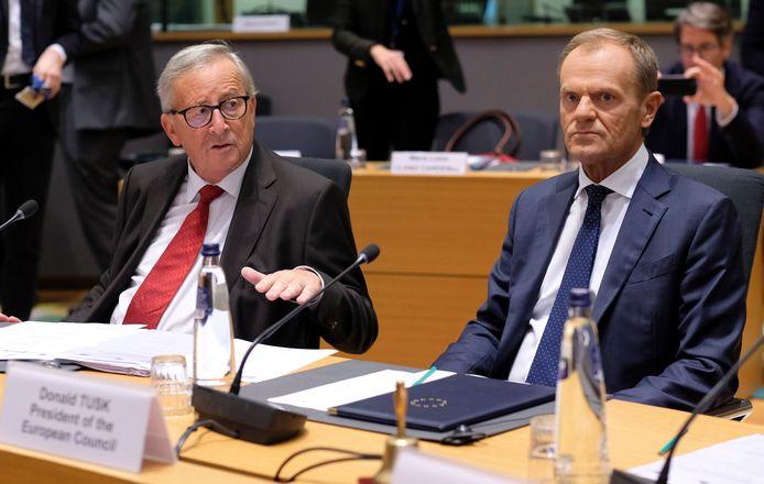 Jean-Claude Juncker et Donald Tusk.