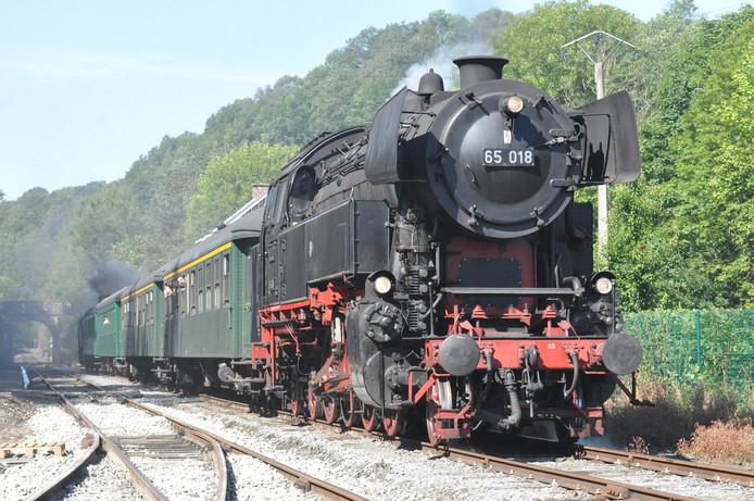 De locomotief uit Rotterdam.