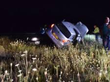Auto belandt op bestelbusje bij ongeluk op A30 bij Ede