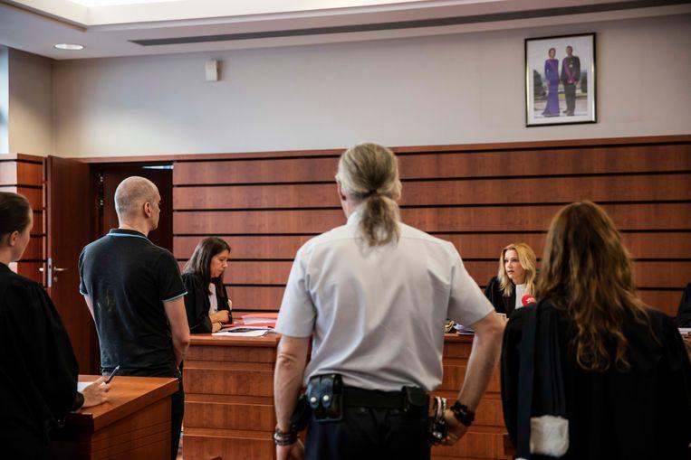 Dennis K. (39) tijdens de uitspraak van het vonnis voor de strafrechtbank in Tongeren