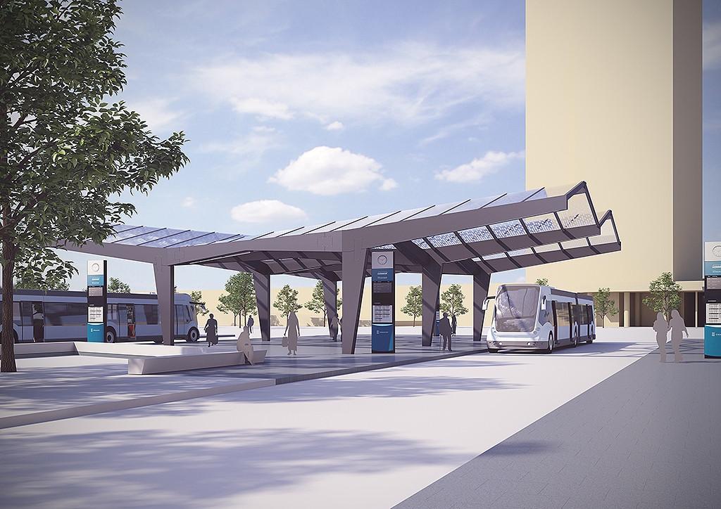 Bouw busstation woensel in eindhoven hervat foto for Terrace 45 qc