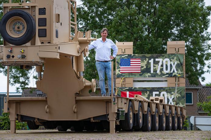 Een trotse directeur Pieter-Bas Broshuis. Zijn bedrijf werkt aan een mega-order van het Amerikaanse leger.