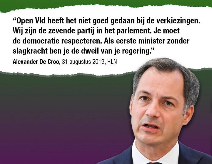 N-VA pakt op Facebook uit met deze uitspraak van Alexander De Croo.