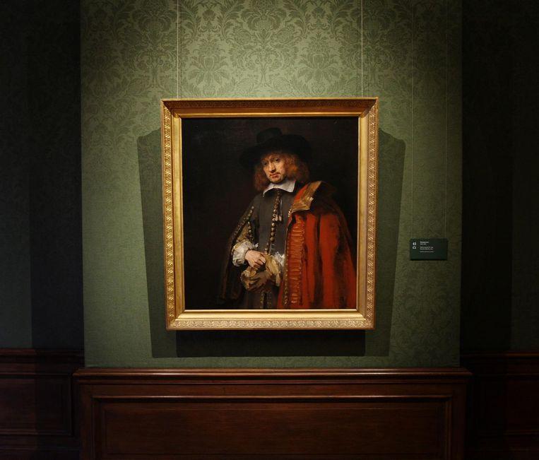 Het portret van Jan Six van Rembrandt Beeld anp