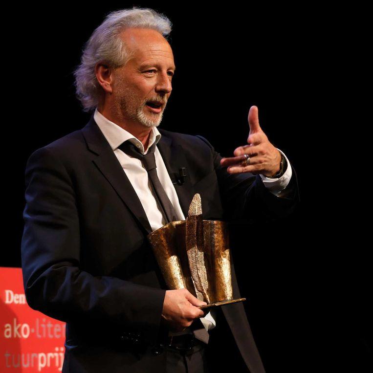 De Vlaming Stefan Hertmans heeft de laatste AKO Literatuurprijs gewonnen voor zijn boek Oorlog en terpentijn. Beeld anp