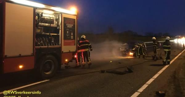 Veel vertraging op A58 bij Ulvenhout door een ongeluk.