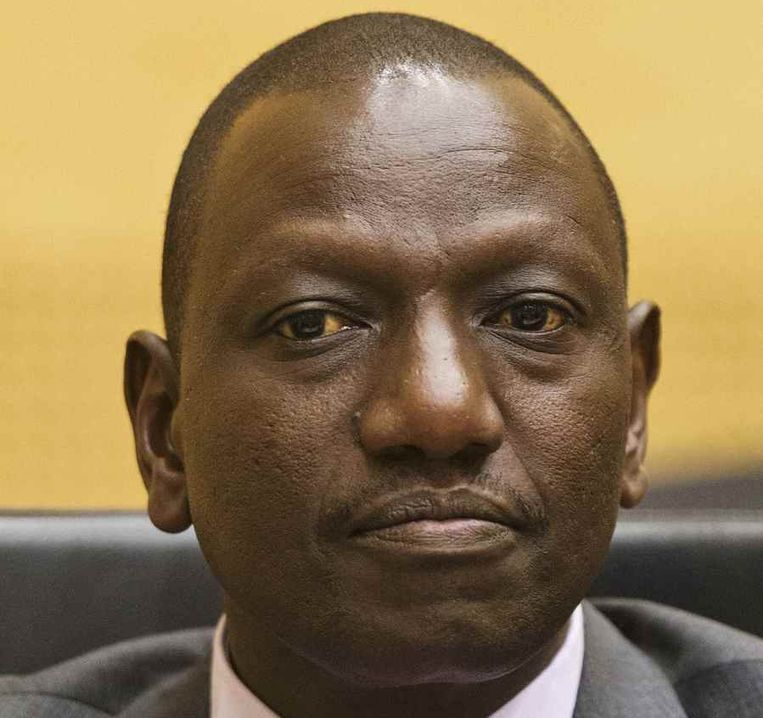 Vicepresident Kenia William Ruto in de rechtszaal in Den Haag, twee weken geleden vooraf aan zijn proces. Beeld reuters