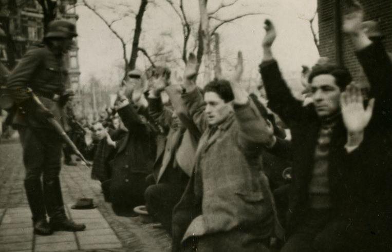 Documentaire De stakende stad over de dagen voorafgaand aan de Februaristaking. 427 Joodse mannen werden afgevoerd. Beeld KRO-NCRV