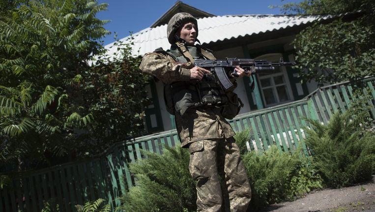 Archieffoto van een Oekraïense grenswacht. Beeld ap