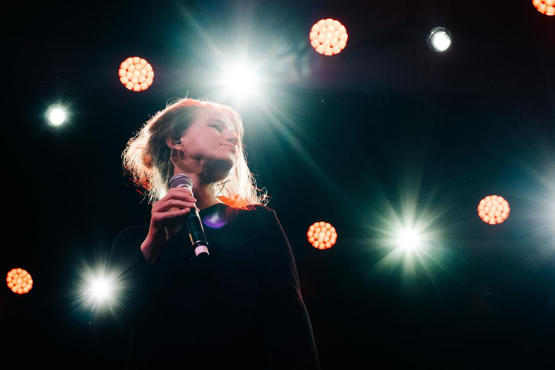 Selah Sue op Jazz Middelheim tijdens 'Jazz Loves Disney'. Beeld Wouter Van Vooren