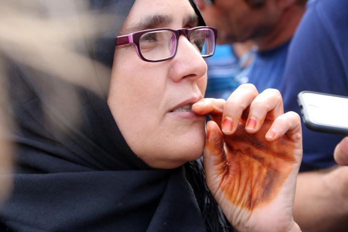 Halima, de moeder van de doodgeschoten Mohammed Hachymi.