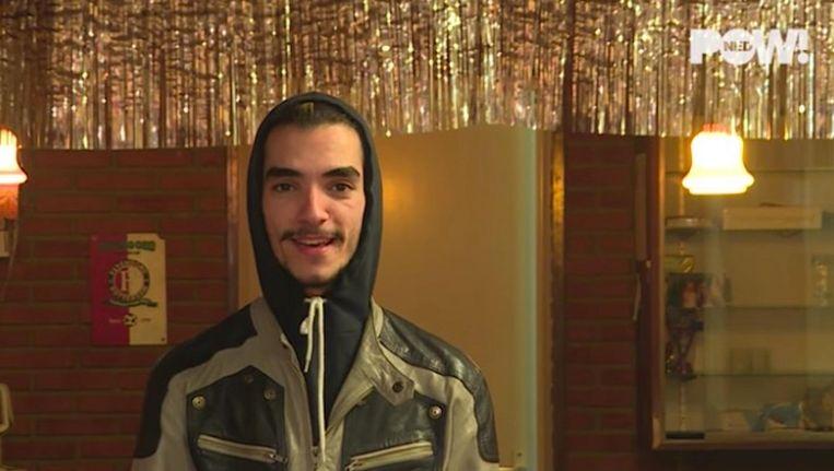 Tariq Kasem in een aflevering 'Vluchteling maakt kennis' van PowNed. Beeld -