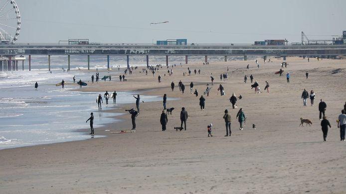 Toch nog druk op Haagse stranden