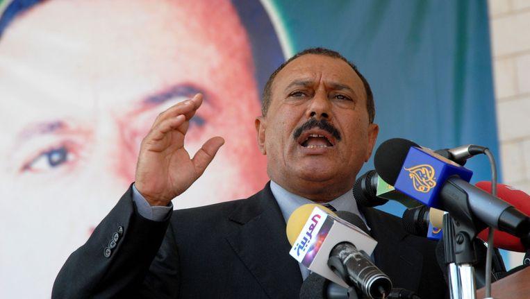 Ali Abdullah Saleh in 2007. Beeld afp