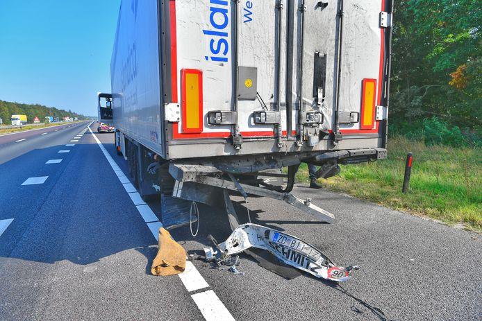 Ongeval met twee vrachtwagens op de A67 bij Eersel.