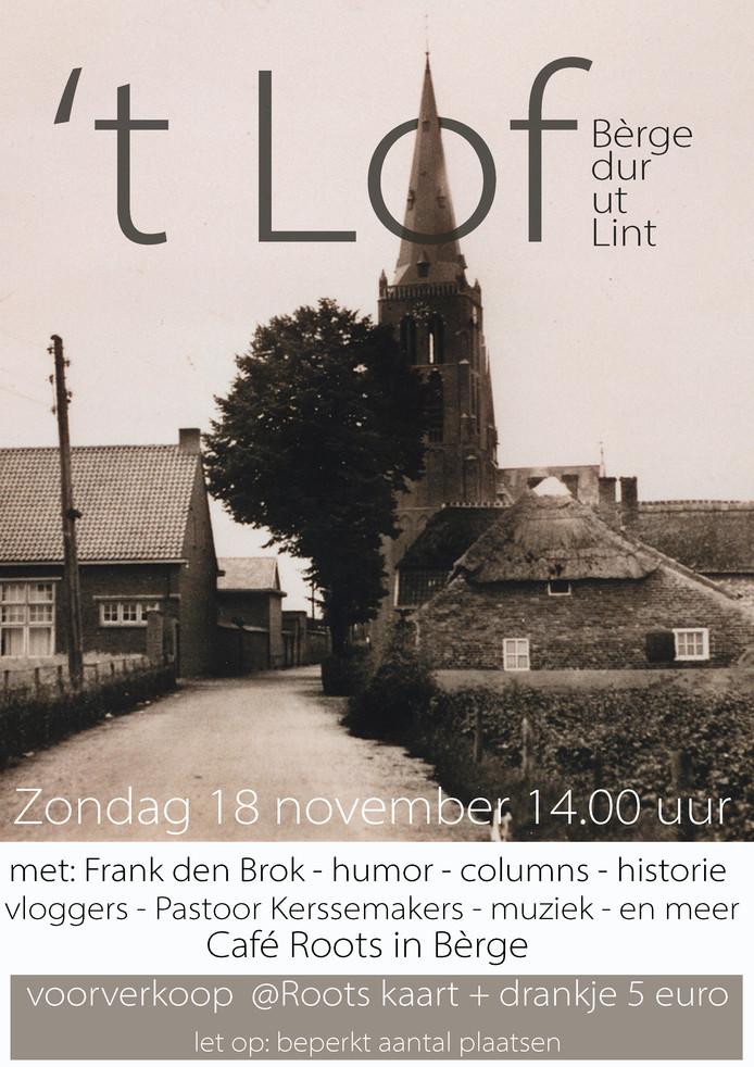 De poster waarmee 't Lof wordt aangekondigd.