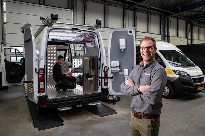 Rick Enderink van Isfordink Olst voor de elektrische Volkswagen e-Crafter.