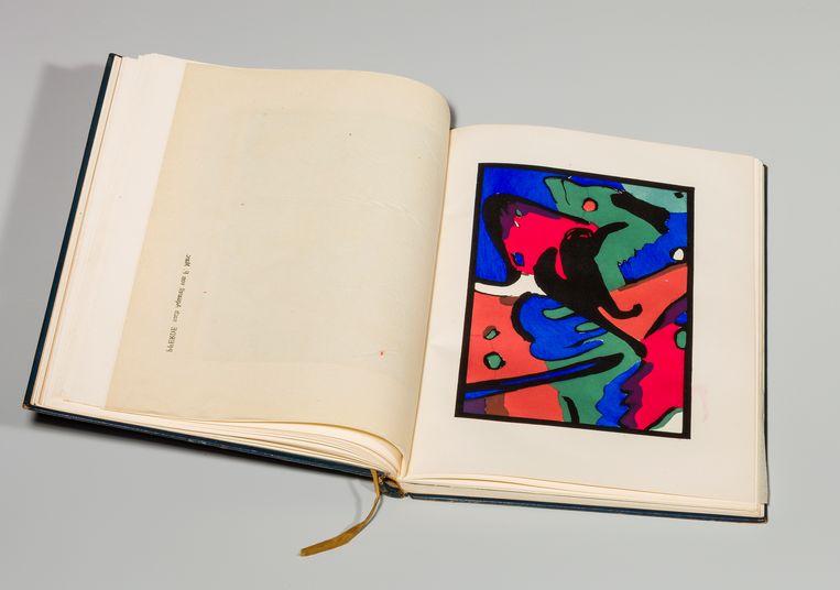 Wassily Kandinsky: Bogenschütze, één van de twee houtsneden in de almanak. Beeld RV