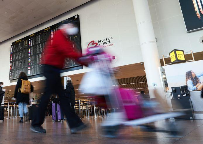 Passagiers op Brussels Airport, ter illustratie.