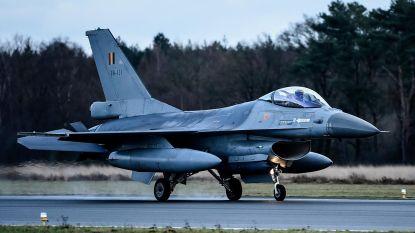 Vier F16's veroorzaken even ongerustheid in regio:  fly-over in kader van samenwerking skeyes en Defensie
