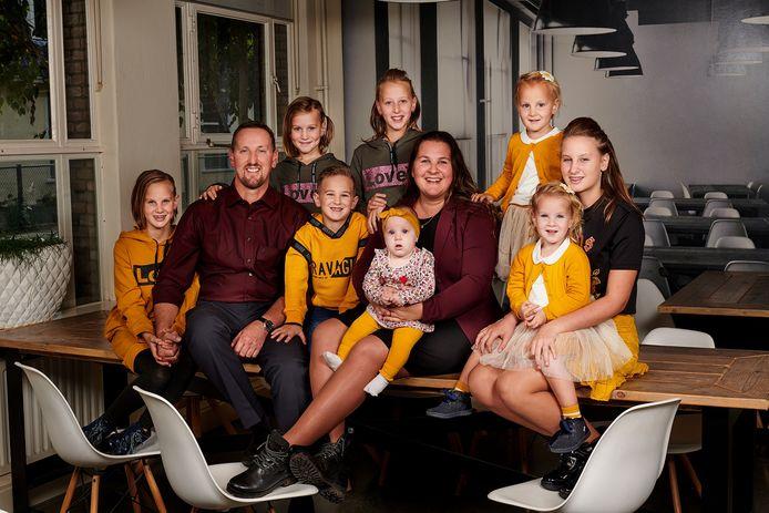 De familie Jelies uit Tollebeek in de aanloop naar hun debuut in 2019 bij Een Huis Vol.