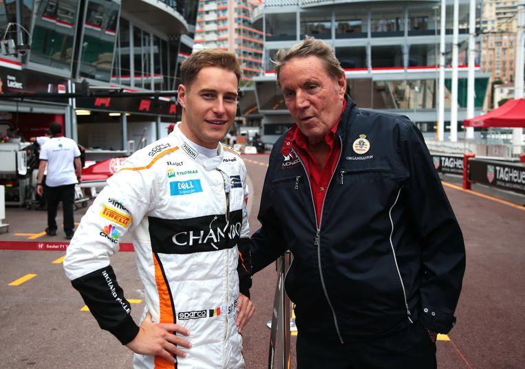 Stoffel, in gesprek met Michel Boeri, voorzitter van ACM, de automobielclub van Monaco, die de grand prix organiseert.