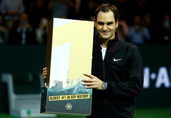 Roger Federer werd op 36-jarige leeftijd opnieuw nummer één van de wereld, in Ahoy.