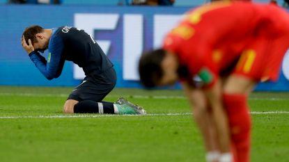 """Franse vedette komt terug op halve finale tegen België en vertelt waarom hij in tranen uitbarstte: """"Ook de woorden van Courtois hebben me hard geraakt"""""""