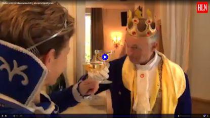 VIDEO: Halse politici huppelen rond als sprookjesfiguren