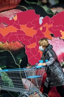 CORONAKAART | Daling besmettingen in regio, wel zes overlijdens: kijk hier hoe het zit in jouw regio