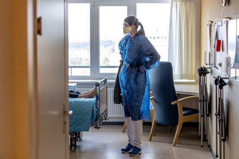 Medisch personeel van het Zuyderland ziekenhuis in Heerlen.  Beeld null