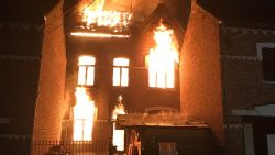 Pastorij van Kerkom bij Sint-Truiden volledig vernield door hevige brand