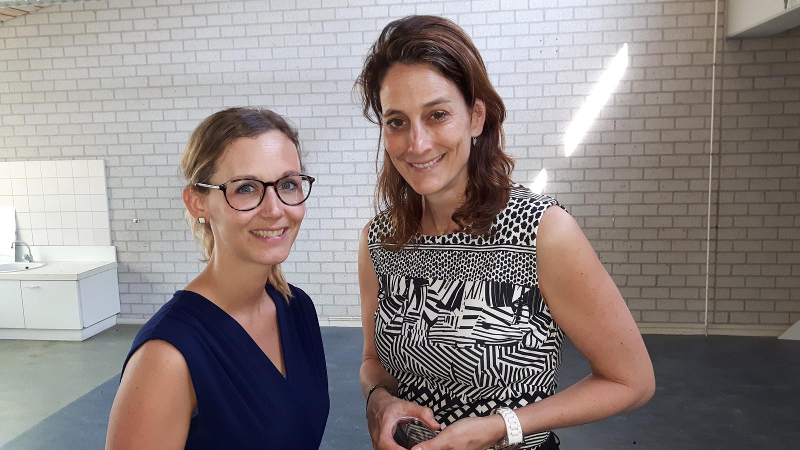 Daisy Habraken-Groenland (links, 31) en Imke Denissen (41) gaven beiden les op De Wingerd.