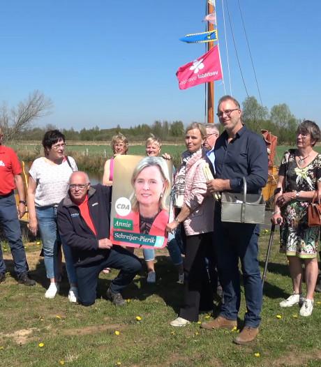 Annie Schreijer trapt campagne af met 'aspergetocht' in Hardenberg