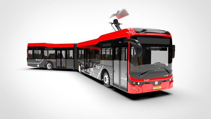De bus van Ebusco.