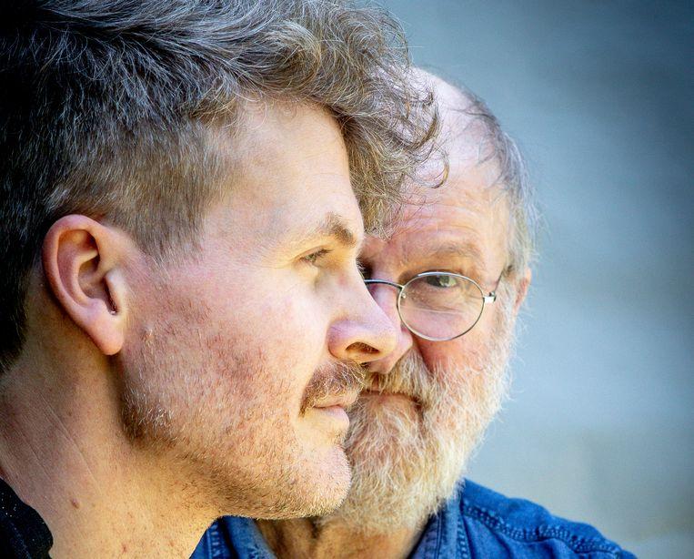 Willem Vermandere met zoon Augustijn