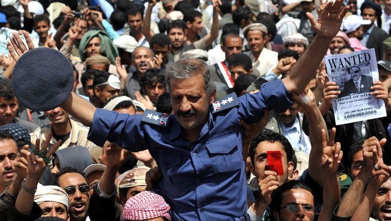 Demonstranten in Jemen. Beeld epa