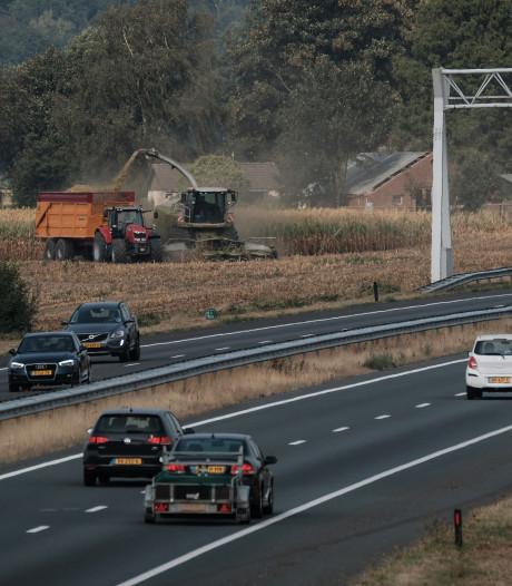 Vertraging op de A18 door werk aan de weg